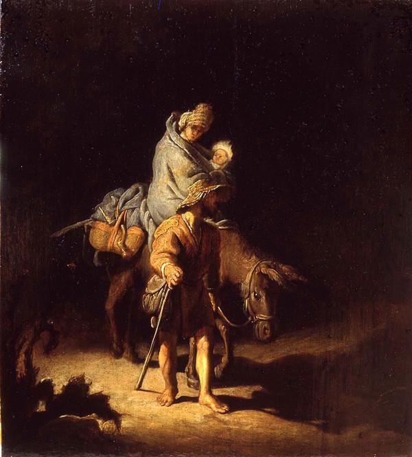 La fuite en Egypte de Rembrandt