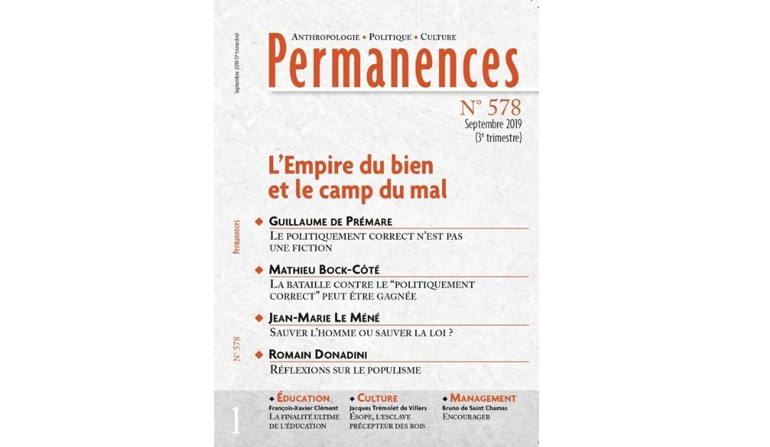 N° 578 L'empire du bien et le camp du mal