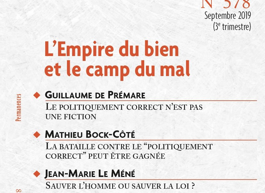 N°578 L'empire du bien et le camp du mal