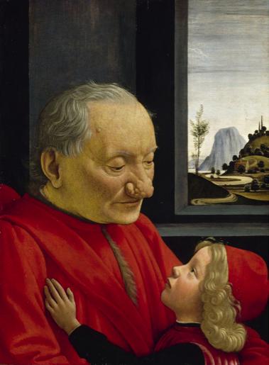 Portrait d'un vieillard et d'un jeune garçon de Domenico Ghirlandaio (1449-1494)
