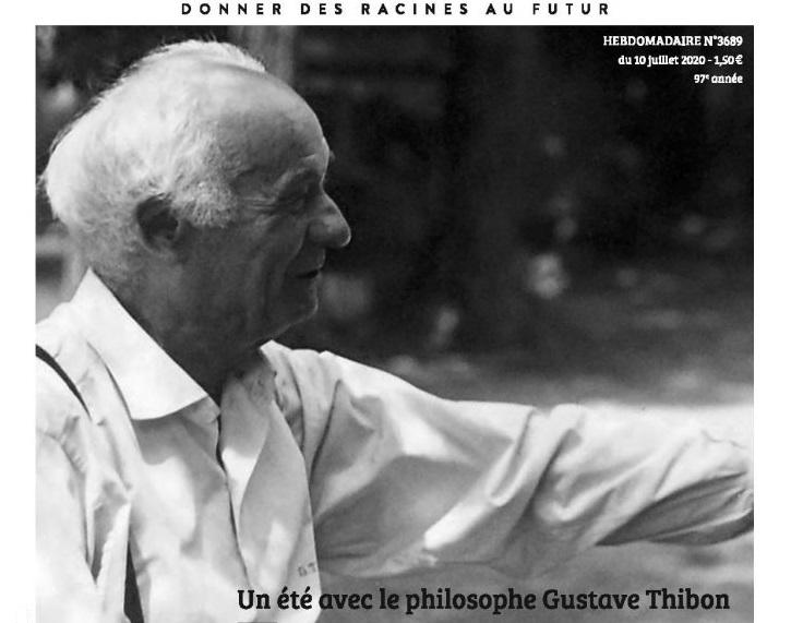 France catholique consacre un dossier à Gustave Thibon